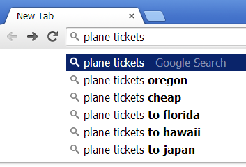 Google Search Autofill, showing how Google finishes searches for you