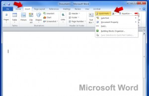 Microsoft Word: Quick Parts