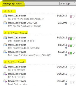 Search results based on all emails from Travis Zetterower
