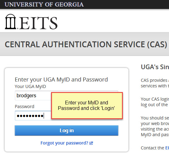 UGA Central Authentication