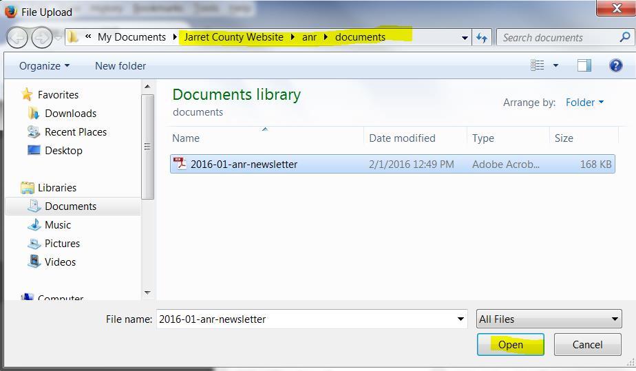AEM-file-upload-document