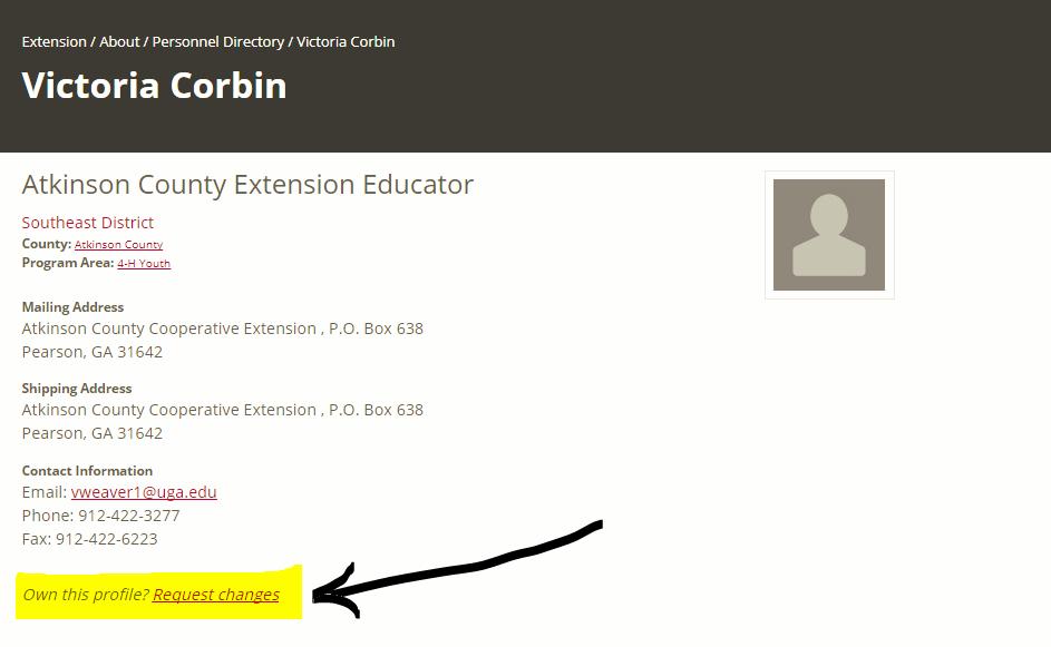 Individual profile for Victoria Corbin