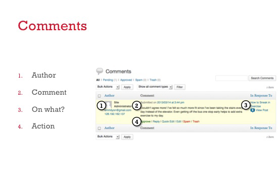 publishing comments