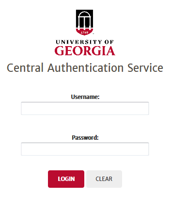 Central Authentication Service Login Screen