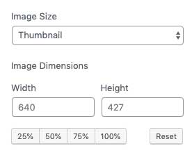 Image dimension options
