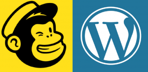 mailchimp and wordpress logos combined